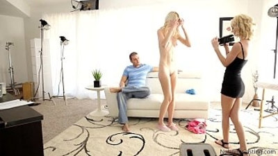 First fuck video for tiny blonde