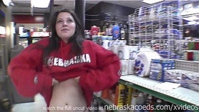 hot brunette woman getting naked in restaurant gas station and on the streets of tampa florida