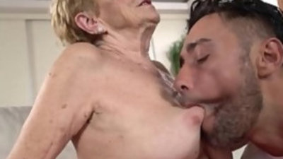 Sexy Asian grannies enjoying passionate fucking on cam