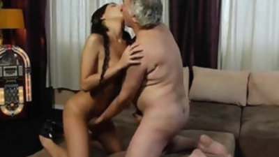 Old man fucking my ass with russian beautiful hennessy