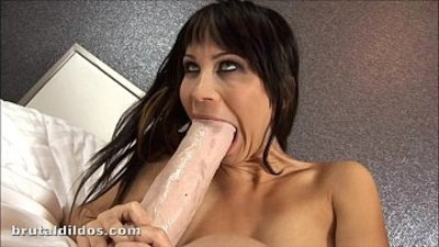 Russian slut Sonia fills her pussy fuck with a brutal dildo