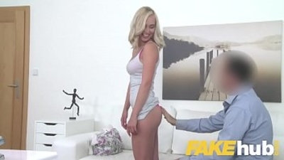 Fake Agent Cute teen blonde loves being fucked doggystyle on casting couch