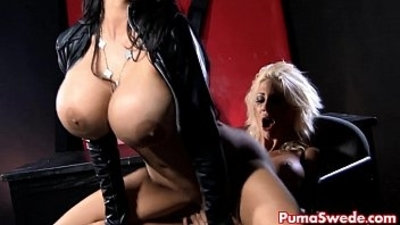 Euro Babe Puma Swede Disciplines Amy With A Strap On!