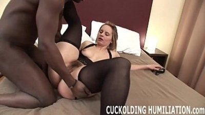I am going to gag on his black hard long cock while you watch