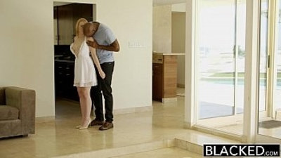 BLACKED Blonde Babysitter Fucks her Black Boss