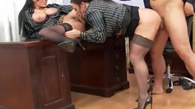 Upperclassfuckfest anissa kate nikita devine if the boss gets mean office chicks become ass and