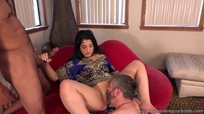 Cum Eating Cuckolds Cuckold watches Nadia Ali go black