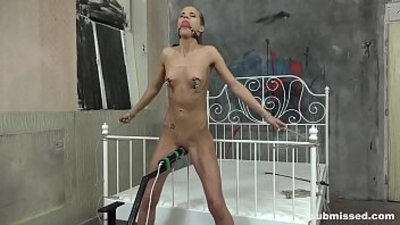 Sarah Kay submissed and vibed to orgasm