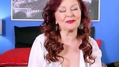 Redhead Granny Gives Good Blowjob